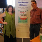 Sara with co-author J.M. Kearns at How Can I Be Your Lover When I'm Too Busy Being Your Mother? book launch