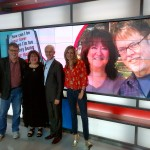 Sara Dimerman and co author, JM Kearns, on the set of Global TV's Morning Show with Dave Gerry and Liza Fromer
