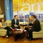 Sara on the CTV Canada AM set