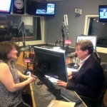 Sara with John Tory at NewsTalk 1010 Radio station