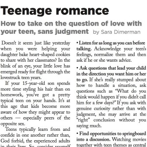 articles Teen love
