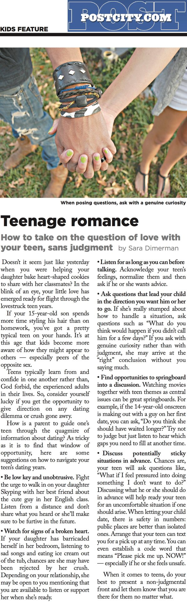 Image: Teenage romance: how to take on the question of love with your teen, sans judgement