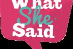 WhatSheSaid Radio logo