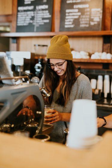 Girl barista