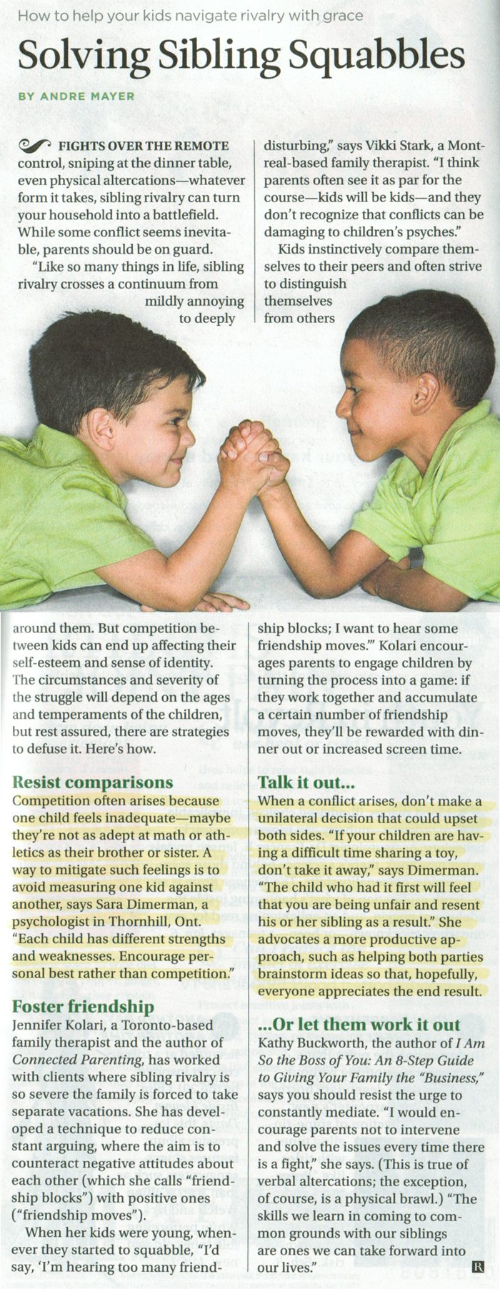 Image: Solving Sibling Squabbles