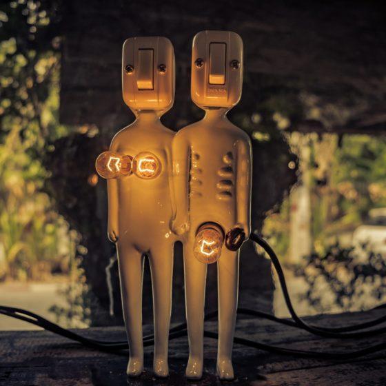 Light bulb male and female